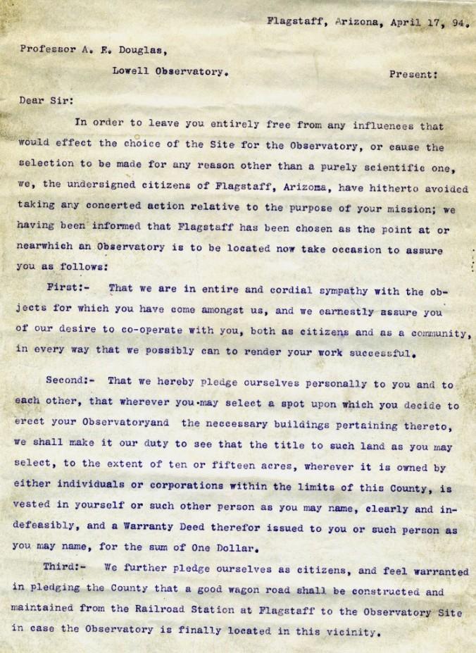 1894 letter